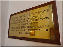 TQ1068 : St Mary, Sunbury-on-Thames: memorial (9) by Basher Eyre