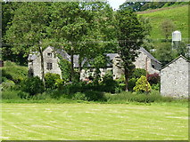 SJ1433 : Dolwen farmhouse from the valley below by Richard Law