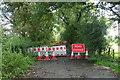 SP5356 : Minor road closure near Charwelton by JThomas