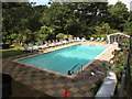 SZ1091 : Outdoor heated swimming pool of Chine Hotel, Boscombe by David Hawgood