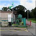ST1598 : Flag and flagpole, Vere Street, Gilfach by Jaggery