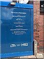 SP0786 : HS2 contact details, Moor Street Queensway, Birmingham by Robin Stott