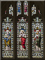 SP1114 : Stained glass window, Ss Peter & Paul church, Northleach by Julian P Guffogg