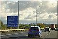 TQ5887 : London Orbital Motorway, M25 Clockwise, near to Cranham by David Dixon