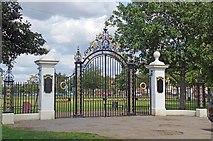 TQ8887 : Victoria Sports Ground Gates by Glyn Baker