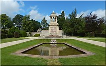 NS2982 : War Memorial and pond by Lairich Rig