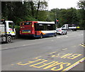 ST1597 : C9 bus for Bargoed on the B4254 in Pengam by Jaggery