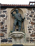 NO4202 : Alexander Selkirk Memorial, Robinson Crusoe House, Lower Largo by Andrew Curtis