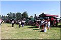 SJ4313 : Shrewsbury Steam Rally - line up of steam engines by Chris Allen