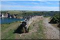 SX5247 : South West Coast Path past Mouthstone Point by Hugh Venables