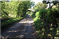 SP6160 : Brockhall Lane and disused railway bridge by Philip Jeffrey