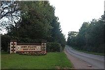 TL2147 : The entrance to John O'Gaunt Golf Club, Potton by David Howard