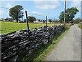 SH5055 : Slate drystone wall, west of Glandwr by Christine Johnstone