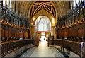 SJ6552 : Choir Stalls in St Mary's Church, Nantwich by Jeff Buck