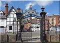 SO8932 : Tewkesbury Abbey Gates by Des Blenkinsopp
