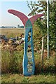 TQ9564 : National Cycle Network 1 Milepost, Conyer by Oast House Archive