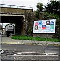SS9080 : Sky advert, Derwen Road, Bridgend by Jaggery
