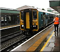 SS9079 : Class 153 train for Cardiff at Bridgend station by Jaggery