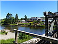 NY4724 : Looking across the river to Pooley Bridge riverside by Ruth Sharville