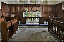 SU8014 : East Marden, St. Peter's Church: The altar by Michael Garlick