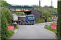 SK1509 : HS2 truck near Huddlesford in Staffordshire by Roger  Kidd