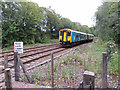 ST1686 : Sprinter at Wernddu foot crossing by Gareth James