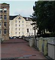 NS8742 : New Lanark Mills - View to Mill No.1 (Hotel) by Rob Farrow