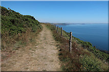 SX5746 : South West Coast Path on Beacon Hill by Hugh Venables