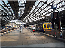 SJ3590 : Electric train at Lime Street station by Stephen Craven