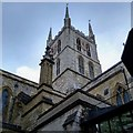 TQ3280 : Southwark Cathedral Tower by Free Man