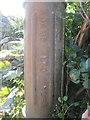 SH5463 : Manufacturer's inscription on Stench pipe on Rhes Rhythallt, Llanrug by Meirion