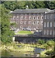 NS8842 : New Lanark Mills - The Institute - river-facing façade by Rob Farrow
