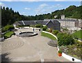 NS8742 : New Lanark Mills - View from gallery above roof terrace by Rob Farrow