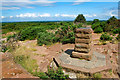 SJ2484 : Viewing Point Plinth on Thurstaston Hill  by Jeff Buck
