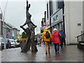 H4572 : Colourful tourists, Market Street, Omagh by Kenneth  Allen