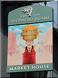 TQ7555 : Market House sign by Oast House Archive