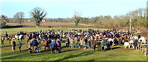 ST8180 : Beaufort Hunt Meet, nr Acton Turville, Gloucestershire 2015 by Ray Bird