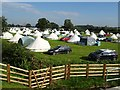 SO8541 : Glampers at the Sunshine Festival by Philip Halling
