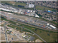 TQ4782 : Barking Railfreight Terminal from the air by Thomas Nugent