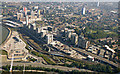 TQ3980 : DLR at Bow Creek from the air by Thomas Nugent