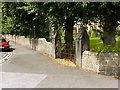 SK5361 : Churchyard wall, Church of St John, Mansfield by Alan Murray-Rust