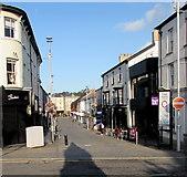 SS9079 : West along Caroline Street in Bridgend town centre by Jaggery
