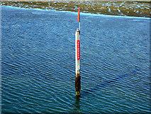 SZ3394 : 'Seymours' channel marker beacon  by John Lucas