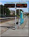 ST1067 : Electronic displays on Barry railway station by Jaggery