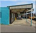 ST1067 : Canopy over platform 1, Barry Station by Jaggery