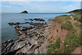 SX5148 : South West Coast Path and Mew Stone by Hugh Venables