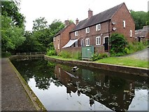 SJ6902 : Cottages beside the canal, Coalport by Philip Halling