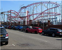 ST1166 : Barry Island roller coaster by Jaggery