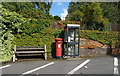 SJ6733 : Elizabeth II postbox and telephone box on Shrewsbury Road, Market Drayton by JThomas