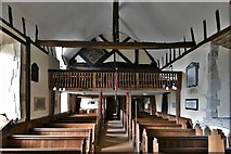 SU5846 : Dummer, All Saints Church: The nave and Charles II gallery by Michael Garlick